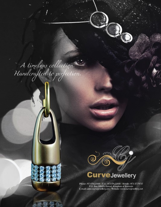 Curve jewelry print ad   Miraj Media