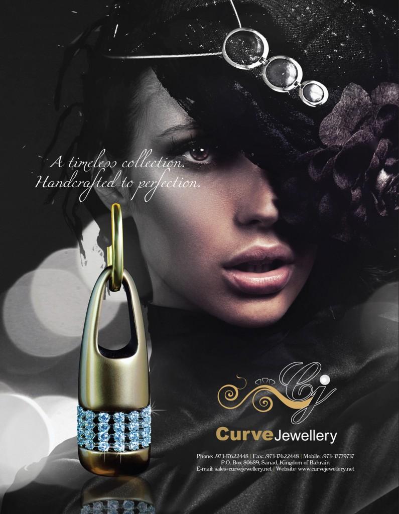 Curve jewelry print ad   Miraj Media